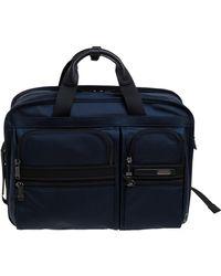 Tumi Blue/black Nylon Three Way Briefcase Bag