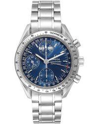 Omega Blue Stainless Steel Speedmaster 3523.80.00 Men's Wriswatch 39 Mm