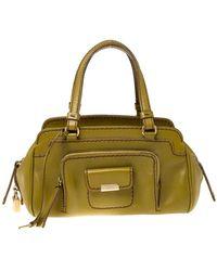 Tod's \n Green Leather Handbag