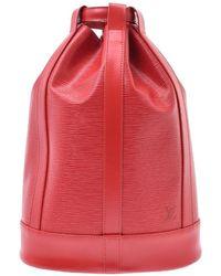 Louis Vuitton Red Epi Leather Randonnee Pm Bag