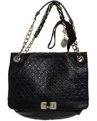 Lanvin Black Leather Happy Shoulder Bag