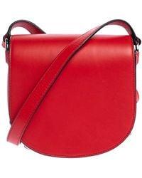 Alexander Wang Red Leather Mini Lia Shoulder Bag
