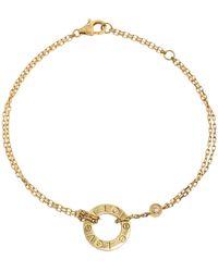 Cartier Love Diamond 18k Yellow Gold Chain Bracelet - Metallic