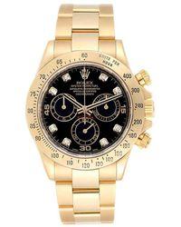 Rolex Black 18k Yellow Gold Submariner 116618 Men's Wristwatch 40mm
