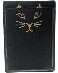 Charlotte Olympia - Leather Feline Ipad Mini Case - Lyst