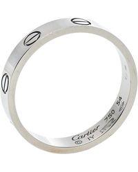 Cartier Love 18k White Gold Wedding Band Ring