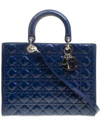 Dior - Patent Leather Large Lady Tote - Lyst
