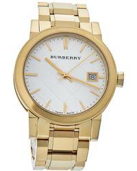 Burberry Silver Gold Tone Stainless Steel Bu9103 Wristwatch - Metallic