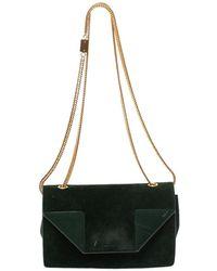 Saint Laurent Saint Laurent Green Suede And Leather Betty Shoulder Bag