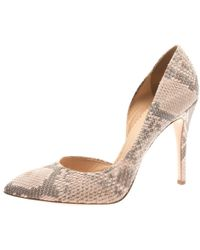 c34616bfc Charlotte Olympia - Blush Pink Python Vamp D'orsay Pointed Toe Pumps Size  41 -