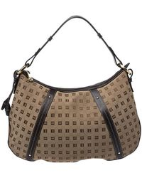 Bally Beige/brown Canvas And Leather Hobo - Natural