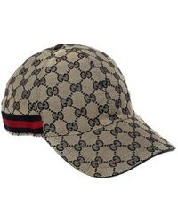 Gucci Beige Ssima Canvas Web Detail Baseball Cap - Natural
