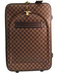 Louis Vuitton Damier Ebene Canvas Soft Case Pegase 55 Trolley Bag - Brown