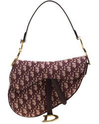 Dior Saddle Burgundy Cloth Handbag - Multicolor