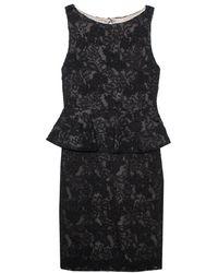 Alice + Olivia Black Lace Josephine Peplum Dress