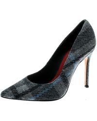 6a4d2003b70ac Carolina Herrera Grey Tweed Pointed Toe Court Shoes Size 38