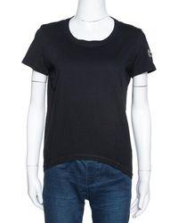 Chanel Black Cotton ' Forever' Applique T-shirt