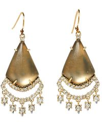 Alexis Bittar - Gold Plated Crystal Lace Lucite Chandelier Earrings - Lyst