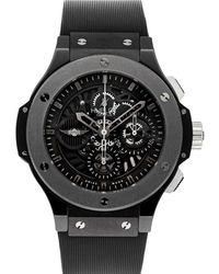 Hublot Black Ceramic Big Bang Aero Bang Morgan Limited Edition 310.ck.1140.rx.mor08 Wristwatch 44 Mm