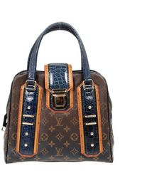 Louis Vuitton Limited Edition Monogram Mirage Delft Exotic Bag - Blue