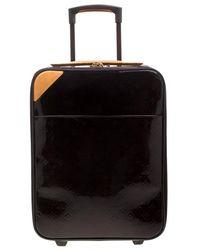 Louis Vuitton Amarante Monogram Vernis Pegase 45 Suitcase - Black