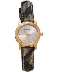 Burberry Rose Gold Pvd Coated Stainless Steel Leather The City Bu9236 Wristwatch - Pink
