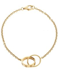 Cartier Love Interlocking 2 Hoops 18k Yellow Gold Bracelet - Metallic