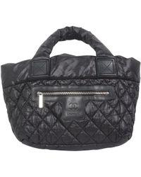 1a4885f5addd59 Chanel Coco ? Cocoon Tote Bag Pm Tote Bag Nylon Leather Black ...
