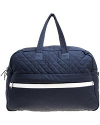 Chanel - Nylon Sport Line Front Zip Weekender Travel Bag - Lyst a013d8723f