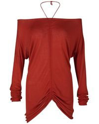 Jean Paul Gaultier - Tomato Knit Ruched Long Sleeve Top L - Lyst