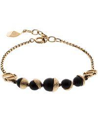 Dior Miss En Black Bead Gold Tone Bracelet - Metallic