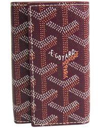 Goyard Bordeaux Ine Leather Key Case - Purple