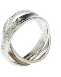 Tiffany & Co. Tiffany 1837 Interlocking Circles Silver Ring - Metallic