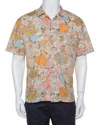 Burberry Multicolour Floral Printed Cotton Bowling Shirt