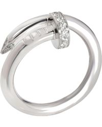 Cartier 18k White Gold Juste Un Clou Diamond Ring
