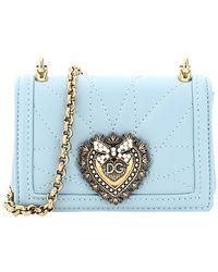 Dolce & Gabbana Blue Leather Devotion Micro Bag