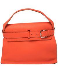 Hermès Capucine Taurillion Clemence Leather Etribelt Bag - Orange
