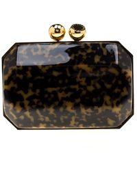 Stella McCartney Black/brown Plexiglass Lucia Clutch