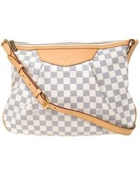 Louis Vuitton Damier Azur Canvas Siracusa Mm Bag - Gray
