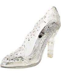 Dolce & Gabbana Transparent Pvc Cinderella Swarovski Embellished Court Shoes - Metallic