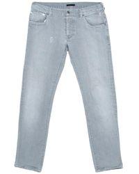 Prada Grey Denim Tapered Fit Jeans