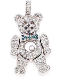 Chopard Happy Diamond 18k White Gold Teddy Bear Pendant