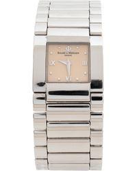 Baume & Mercier Beige Stainless Steel Catwalk Mv045197 Wristwatch - Metallic