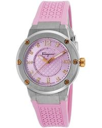 Ferragamo Pink Stainless Steel Fig050015 Women's Wristwatch 33mm