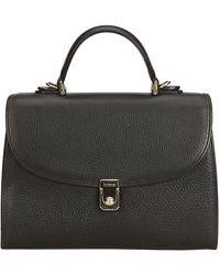 Burberry Black Leather Top Handle Bag