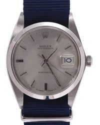Rolex Silver Stainless Steel Oyster Date 6694 Men's Wristwatch 34 Mm - Metallic