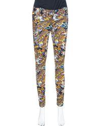 KENZO Multicolor Flying Tiger Printed Denim Skinny Jeans - Blue