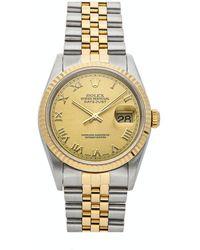 Rolex Datejust 16233 Stainless Steel Wristwatch - Metallic
