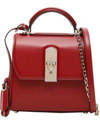 Ferragamo Red Leather Boxy Small Bag