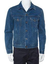Gucci Blue Tiger Embroidered Denim Jacket